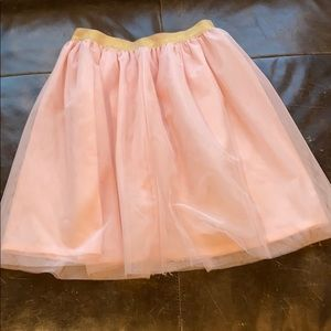 Pink shimmery tulle skirt - size 8